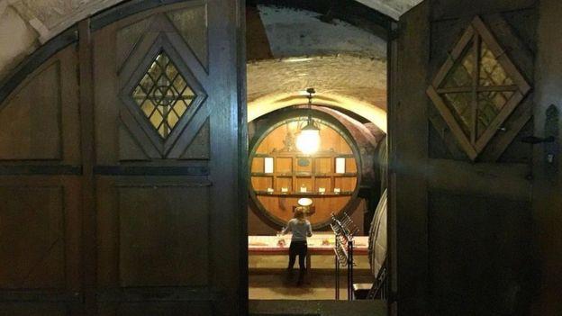 Un barril de vino