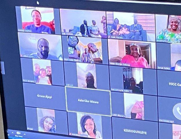 Loved ones watch Yinka and Ademola Adeleke's online ceremony