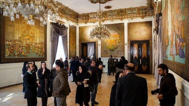 کاخ مرمر پس از سالها به روی خبرنگاران باز شد