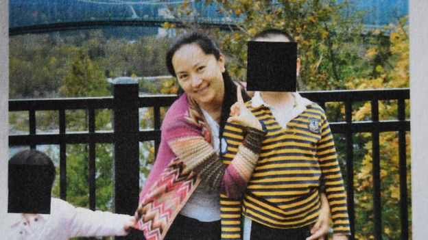 Meng Wanzhou with children