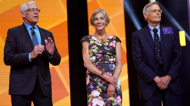 Rob, Alice y Jim Walton.