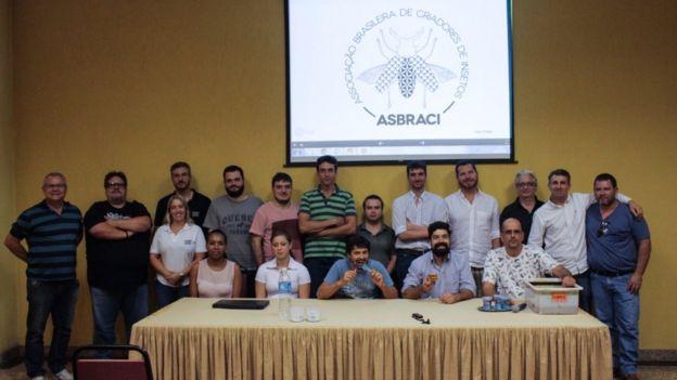Membros da Associação Brasileira de Criadores de Insetos