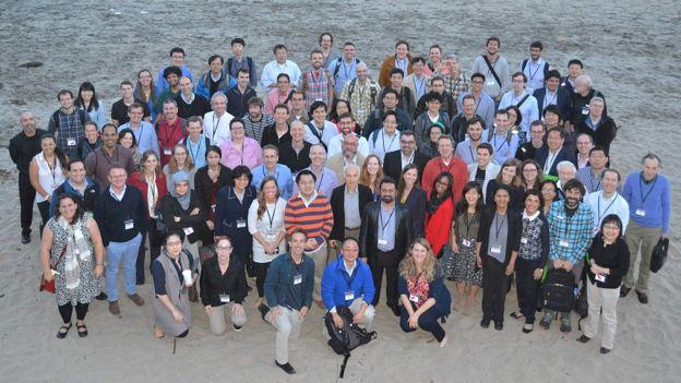 Parte del equipo del Atlas del Genoma del Cáncer en Estados Unidos.