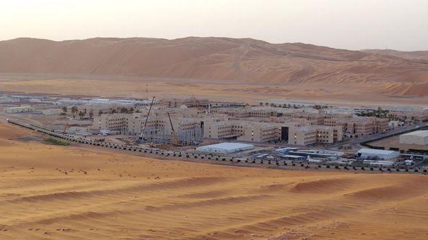 Planta de produção de petróleo de Shaybah, na Arábia Saudita.