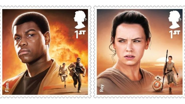 John Boyega and Daisy Ridley's Royal Mail stamps