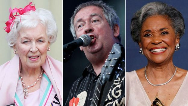 June Whitfield, Pete Shelley and Nancy Wilson