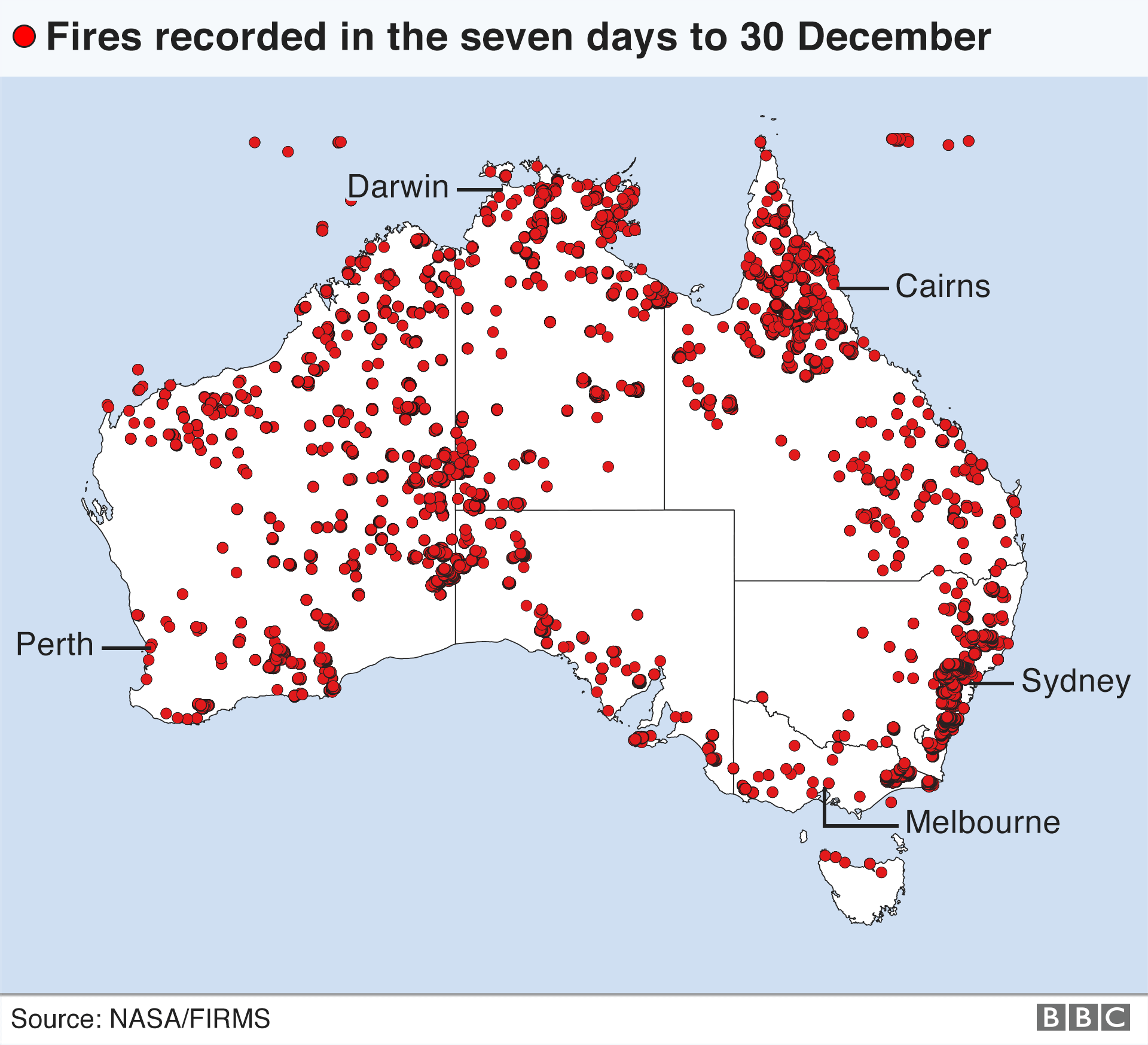 Australia Fires Worsen As Every State Hits 40c Bbc News