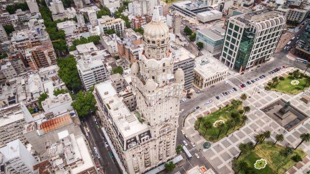 Una vista de Montevideo