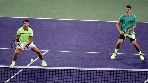 Rafael Nadal y Bernard Tomic