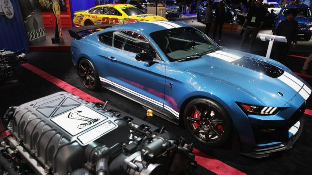 Ford's 2020 Mustang Shelby GT 500 at the North American International Auto Show in Detroit. January 15, 2019