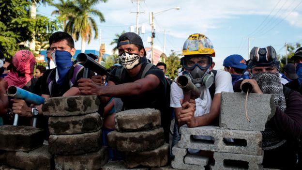 Barricada en Nicaragua
