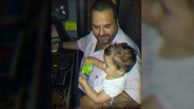 Javier García com sua filha