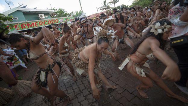 Festival en Isla de Pascua