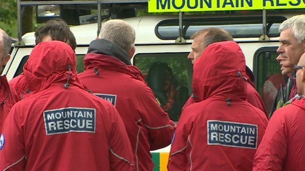 Central Beacons Mountain Rescue team members