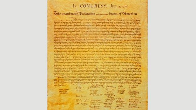 Declaration of Independence of the United States