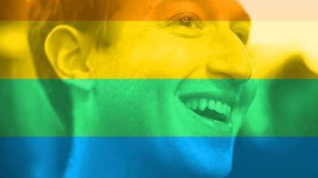 Facebook founder Mark Zuckerberg announced the rainbow flag tool by changing his own profile pic