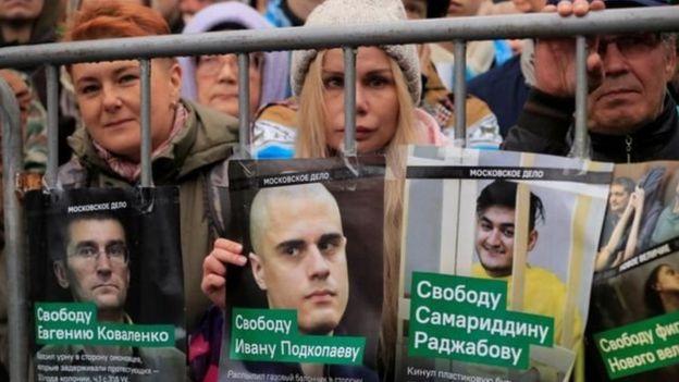 Moskvada etiraz aksiyaları