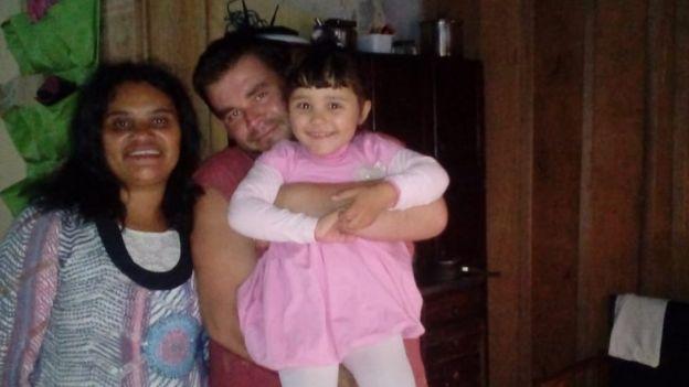 Fabiane, Vitor Hugo e a filha, Ana Vitória