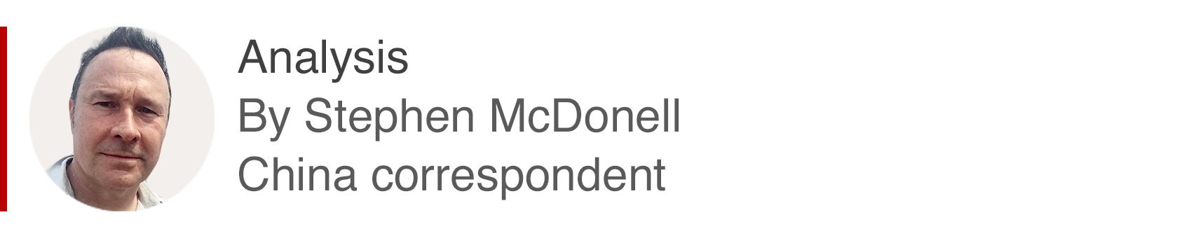 Cuadro de análisis por Stephen McDonell, corresponsal en China