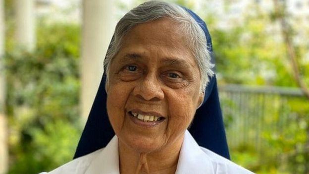 Retrato da Irmã Gerard Fernandez, de 81 anos