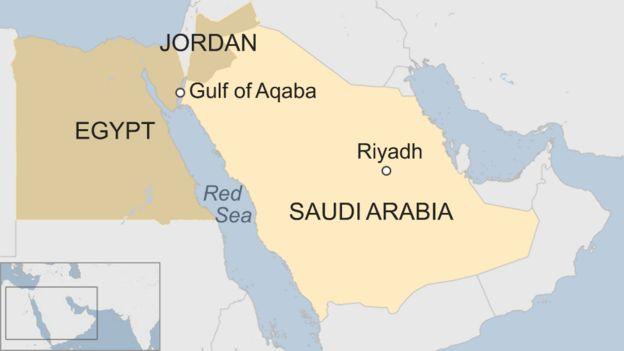 Saudis Plan To Build Bn Mega City And Business Zone BBC News - Map of egypt and saudi arabia
