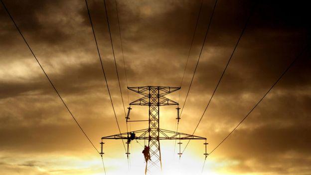 Torre eléctrica en Mendoza, Argentina