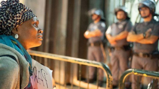 Protesta contra la brutalidad policial en Brasil