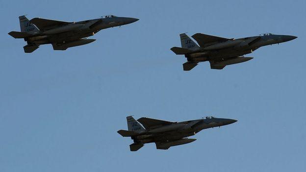 Aviões F-15s