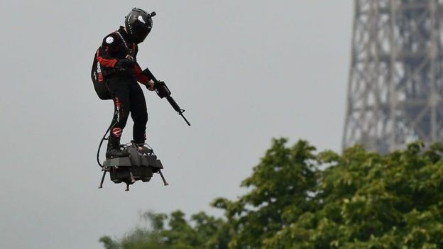 Flyboard at Bastille Day