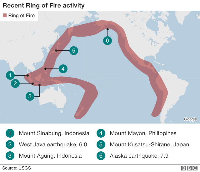 Rim Of Fire Map.Ring Of Fire S Volcanic And Quake Activity Is Normal Say Scientists