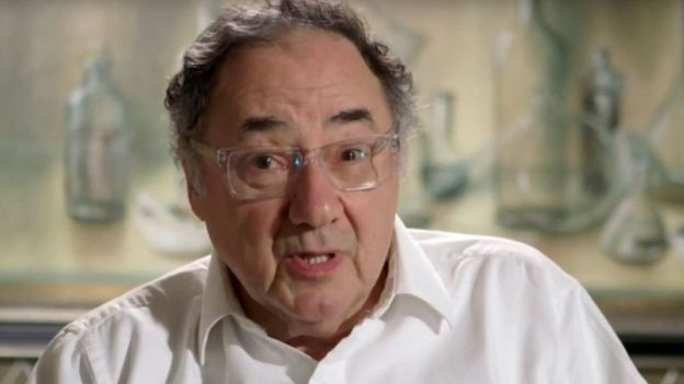 Screen grab of Barry Sherman taken from promotional Apotex video on YouTube on 17 December 2017