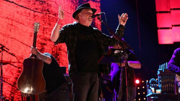 Neil Young en concierto