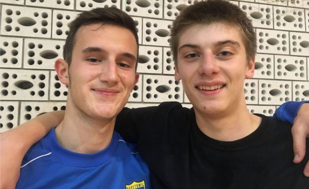 Friends Hevzi (L) and Danilo