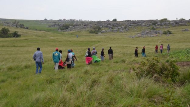 Scores of villagers walked for kilometres to attend community meetings in Xolobeni, Eastern Cape