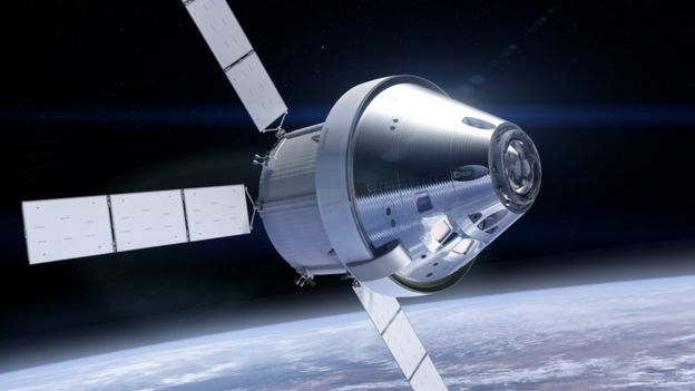 Artwork: Orion and service module