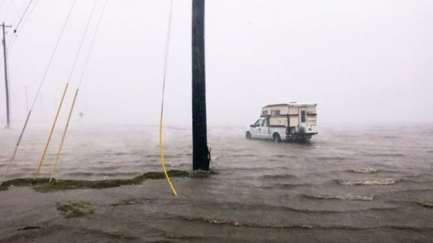 Storm waters in Corpus Christi (25 August 2017)
