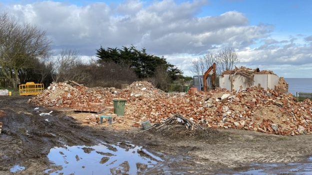 Anne Jones's demolished house in Easton Bavents