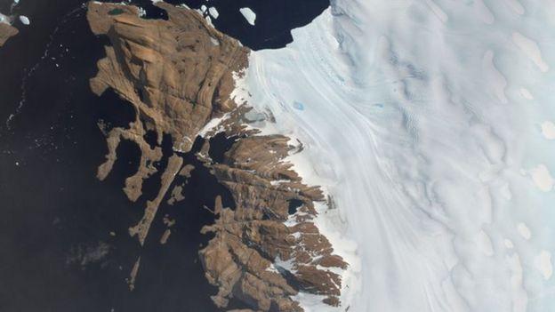 Paisagem da Antártida.