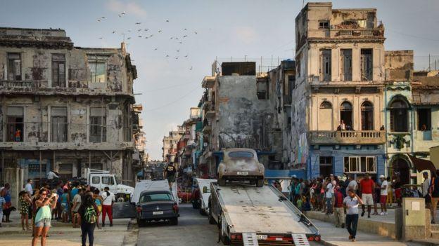 Filmación de Fast and Furious en La Habana
