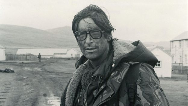 Max Hastings ở đảo Falklands năm 1982