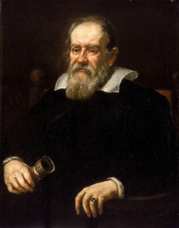 Retrato a óleo de Galileu Galilei, assinado por Justus Suttermans