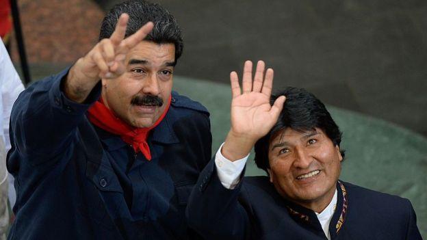 Maduro y Evo