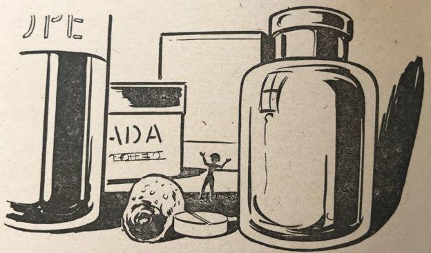 Ilustração de 'A chave do tamanho', um dos livros mais populares de Lobato