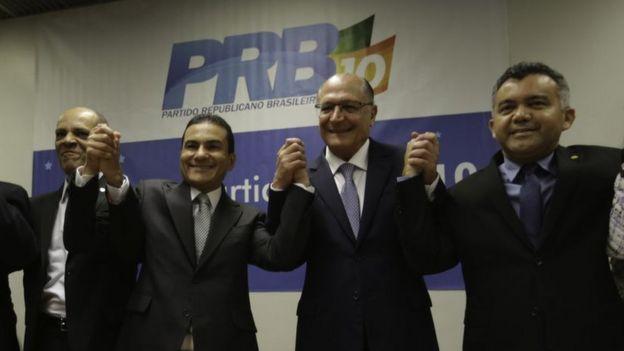 Alckmin em congresso do PRB, que compõe o centrão