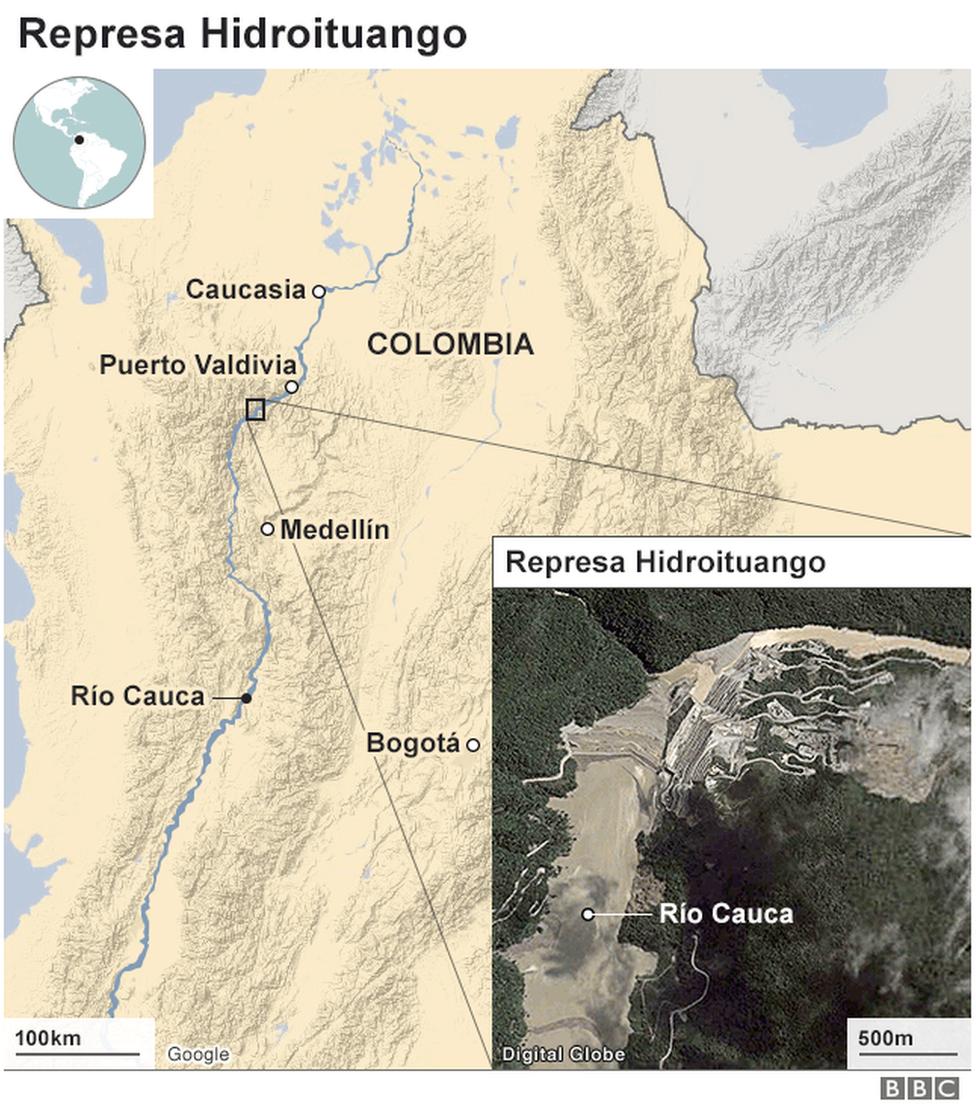 Mapa represa