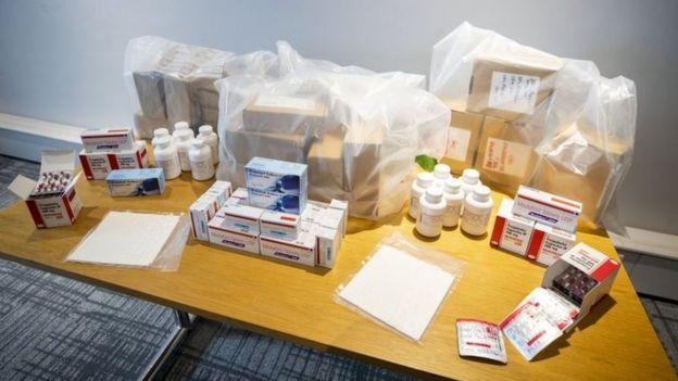 Medicamentos incautados en la Operación Pangea