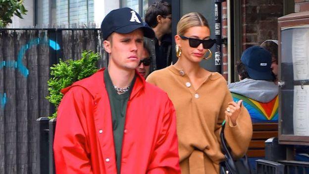 Justin Bieber y su esposa Hailey Bieber