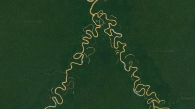 Imagem de satélite do Vale do Javari