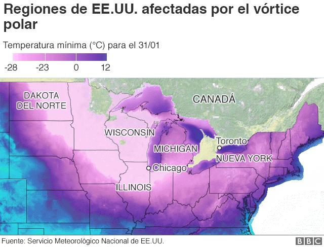 Peor que en la Antártida, el temido Vórtice polar _105432309_us_low_temps_map_640-nc
