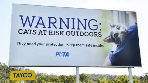 بعد از اینکه شهرداری محل اعلام کرد جایزه میدهد، سازمان حمایت از حیوانات (PETA) استرالیا بیلبوردهای هشدار آمیز نصب کرد